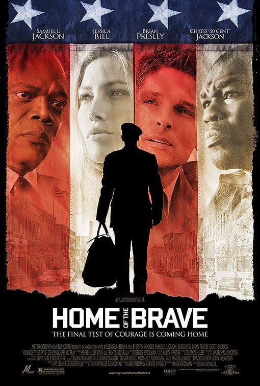 Home of the Brave , starring Samuel L. Jackson, 50 Cent, Jessica Biel, Brian Presley. Three soldiers struggle to readjust to life at home after returning home from a lengthy tour in Iraq. #Action #Drama #War