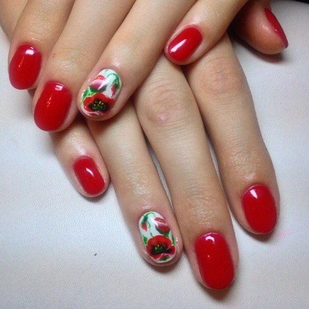 25+ beautiful Short red nails ideas on Pinterest | Red gel ...