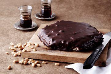 Chokoladekage - Kagen smager som de små, købte P-tærter, men er noget tungere og dejlig syndig!