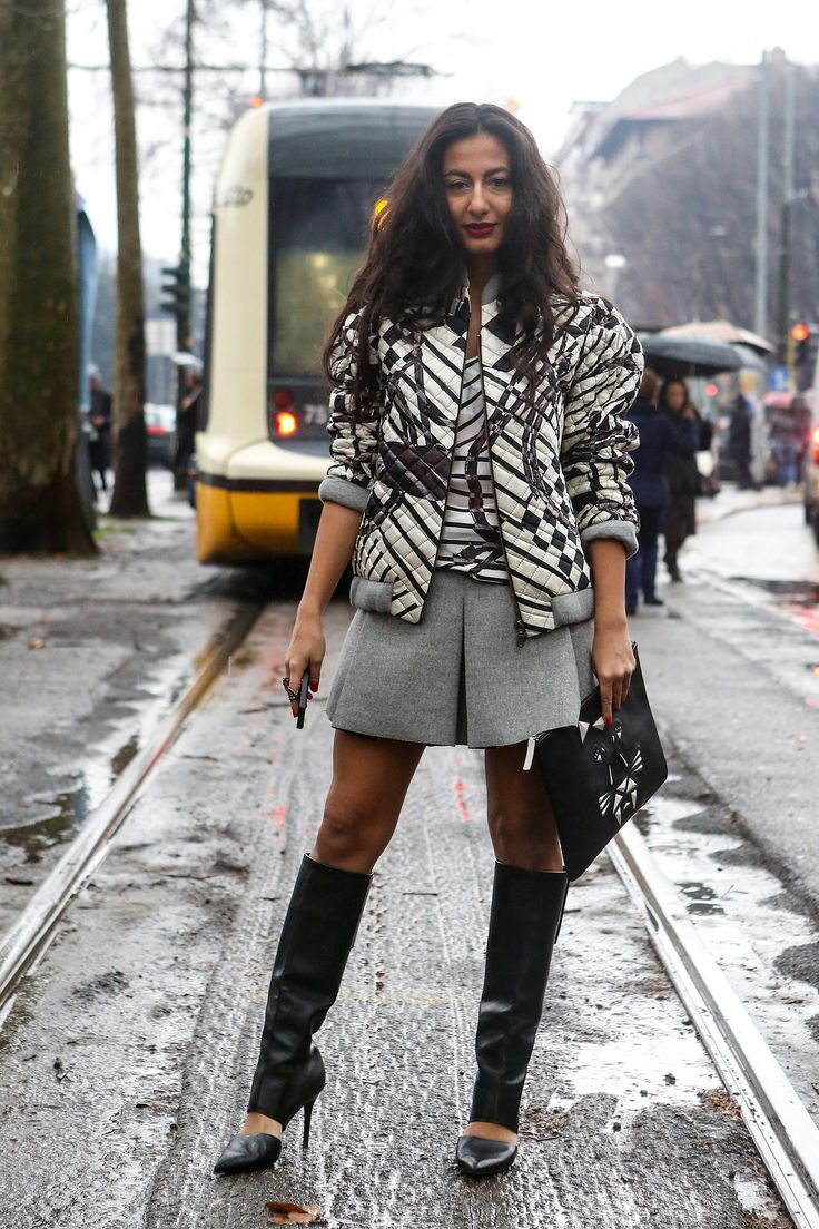 Nausheen Shah clearly knows the value of a few great statement pieces. Milan Fashion Week Street Style #MFW