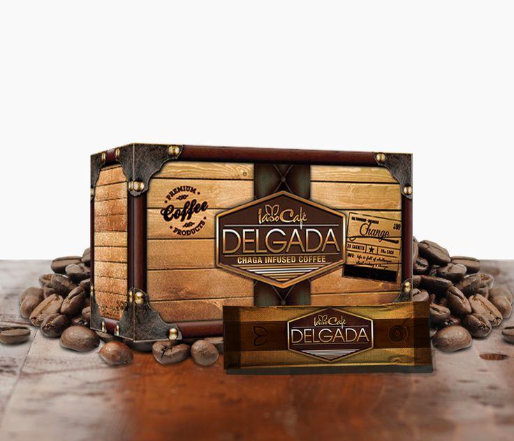 Cafe Delgada Chaga Weight Loss Coffee Sachets