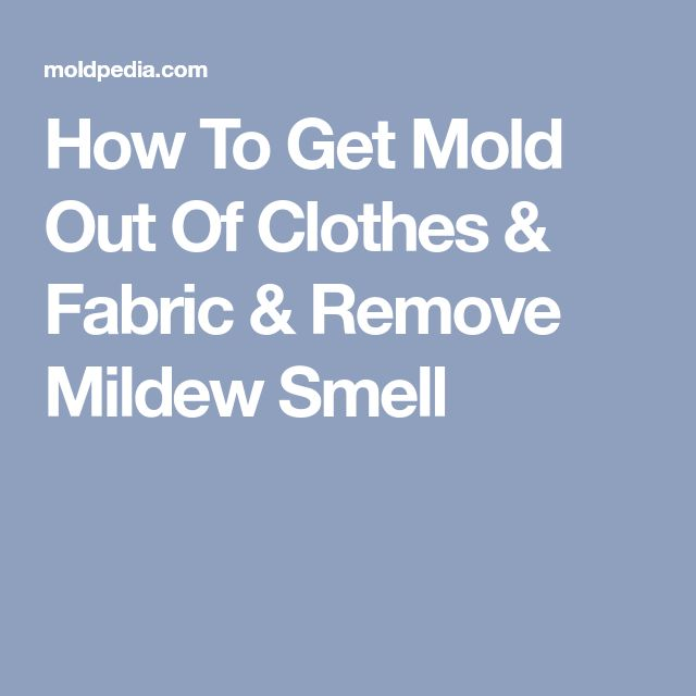 How To Get Mold Out Of Clothes & Fabric & Remove Mildew ...