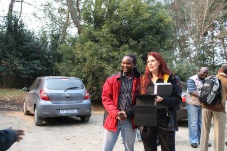Donnette Fry and Race Director Les Moeti #ROC #MandelaMarathon