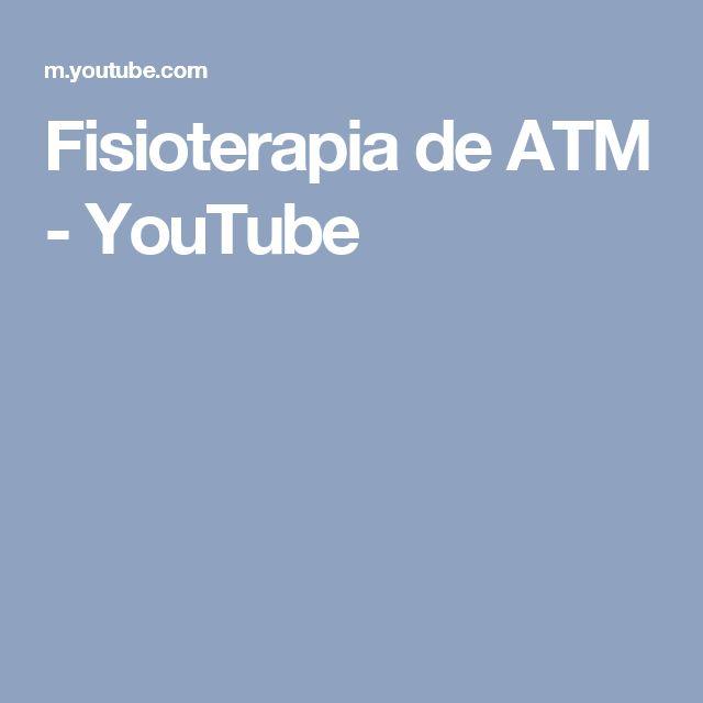Fisioterapia de ATM - YouTube