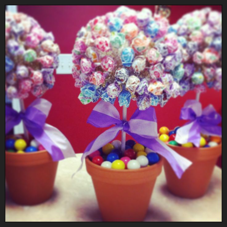 """Candy theme """"Sweet 16"""" table centerpieces!"""