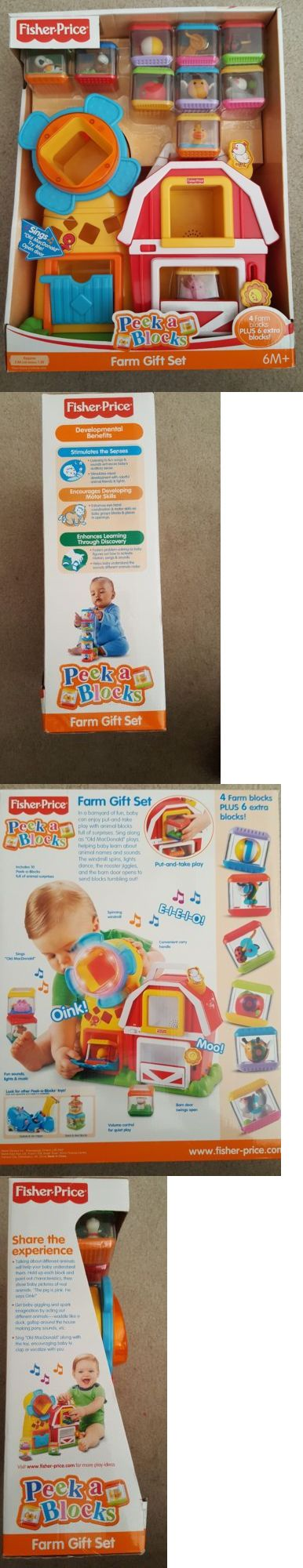 Peek A Blocks 168217: Fisher Price Peek A Blocks Farm Gift Set - New In Box - -> BUY IT NOW ONLY: $75 on eBay!