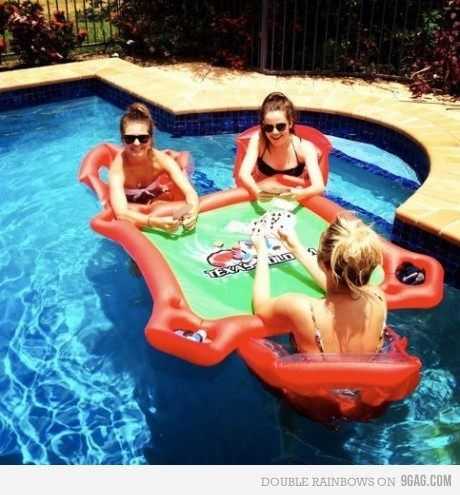 wantPools Poker, Ideas, Summer Day, Awesome, Lakes, Pools Parties, Fun, Summertime, Poker Tables