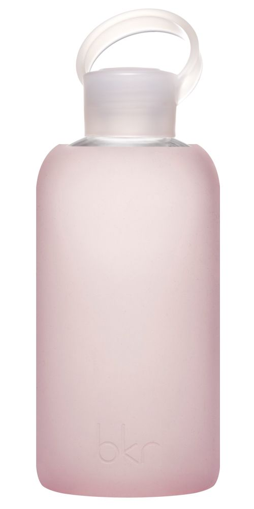 "White Apothecary | bkr 500 mL / 16 oz glass water bottle in ""Bubble"" 