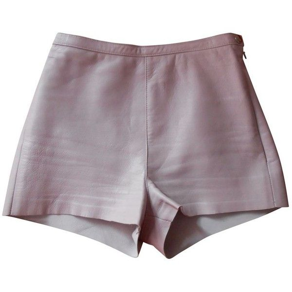 Purple Leather Shorts AMERICAN APPAREL (1 510 UAH) ❤ liked on Polyvore featuring shorts, bottoms, american apparel shorts, american apparel, purple shorts and leather shorts