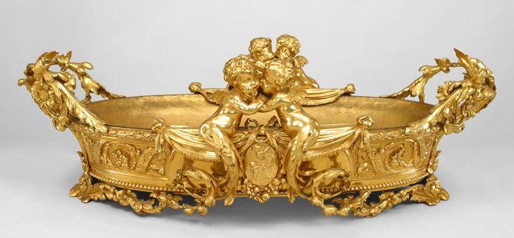 French Louis XV accessories centerpiece/compote bronze dore