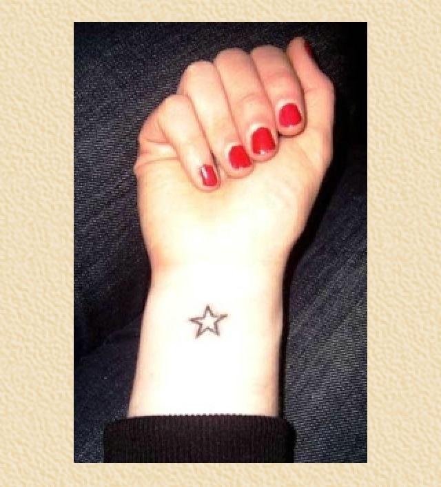 Simple star tattoo on wrist. Star tattoo on wrist, Small
