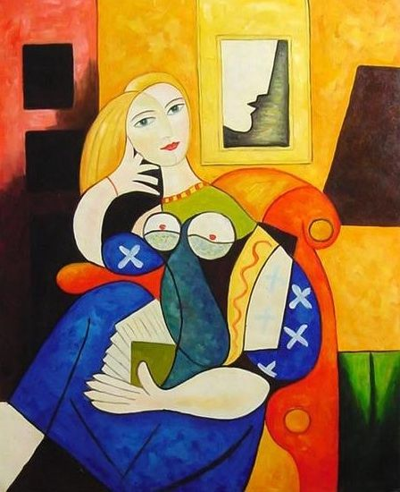 "Pablo PICASSO ""muchacha leyendo"" パブロ・ピカソ (1881-1973) Mais BTW, be sure to also visit: http://universalthroughput.imobileappsys.com/"