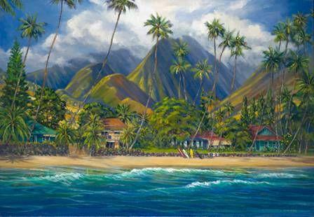 """Lahaina Blues I"" by Janet Spreiter at Maui Hands"