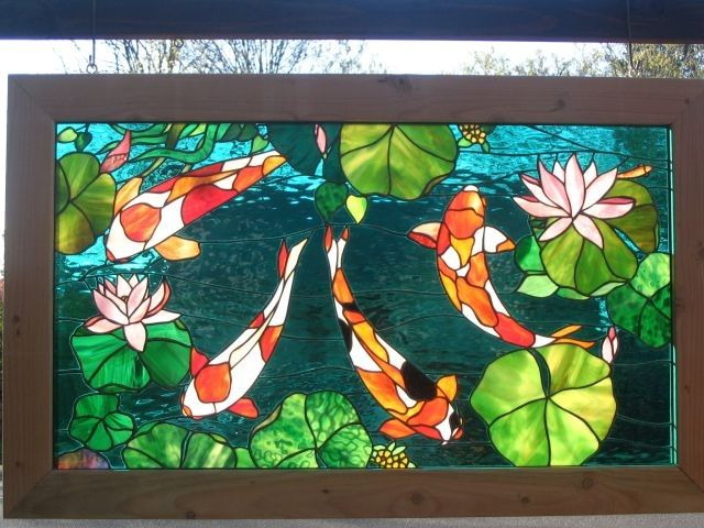 956 best images about stained glass aquarius on pinterest for Koi pond glass