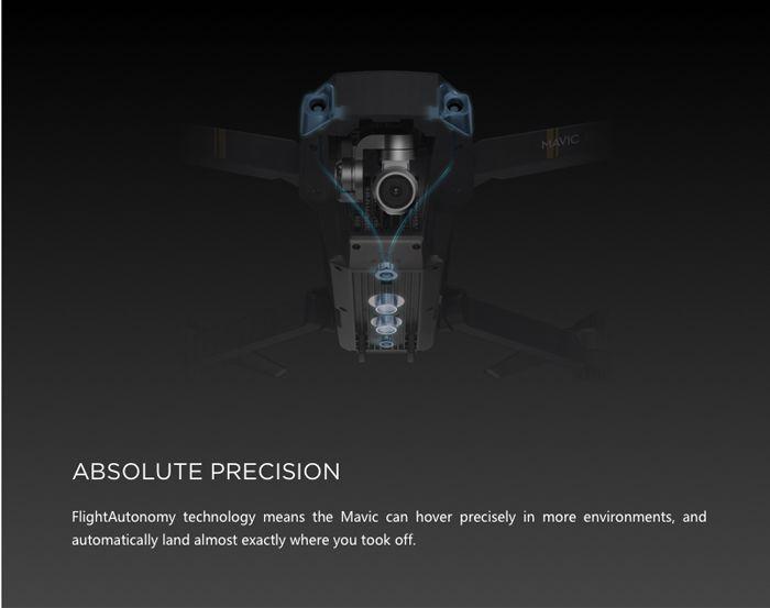 DJI Mavic Pro Mini RC Drone with 7km Ocusync Transmission / 4K UHD Camera / 3-axis Brushless Gimbal