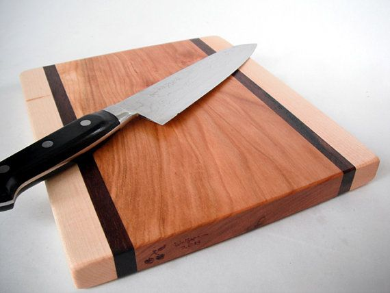 Reclaimed hardwoods Cutting Board maple black by ecohardwoods, $20.00