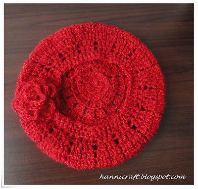 Little Red Riding Hood Beret free crochet pattern