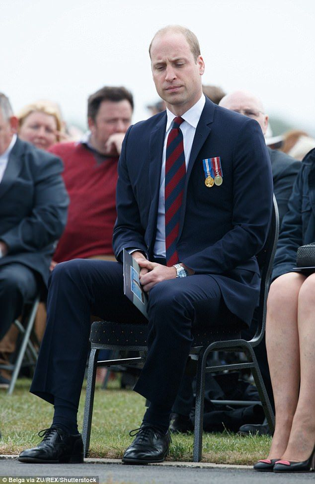 Prince William during the commemoration of the centenary of the battle of Messines ridge, ...
