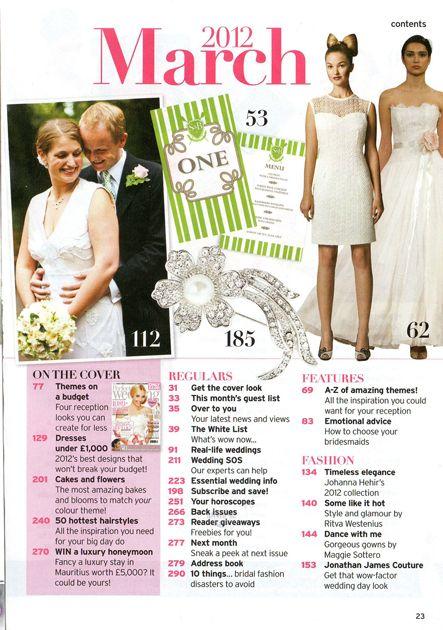 Wedding Magazine Contents Page Google Search Fashion