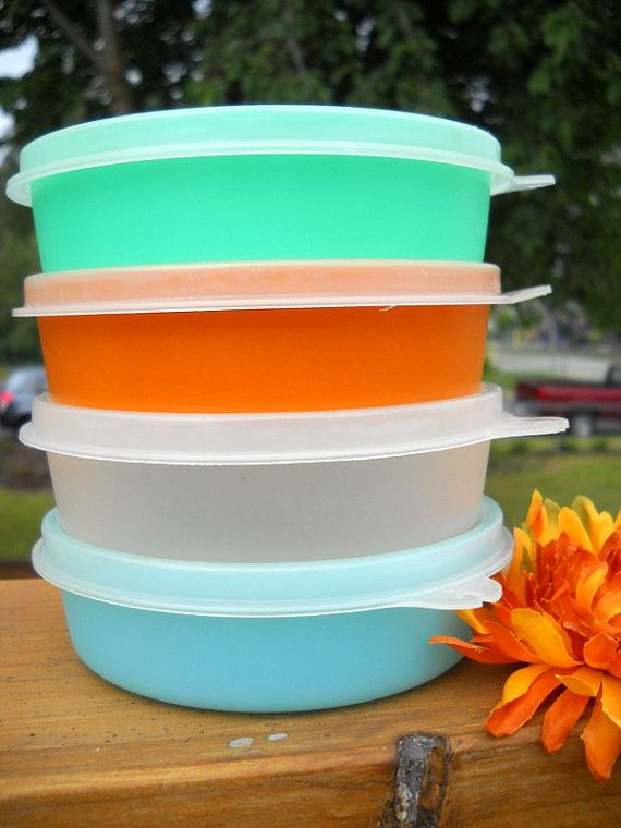 Charming Set of Vintage Tupperware Storage Containers