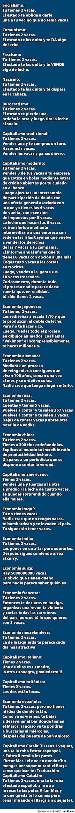 La economía explicada con vaca