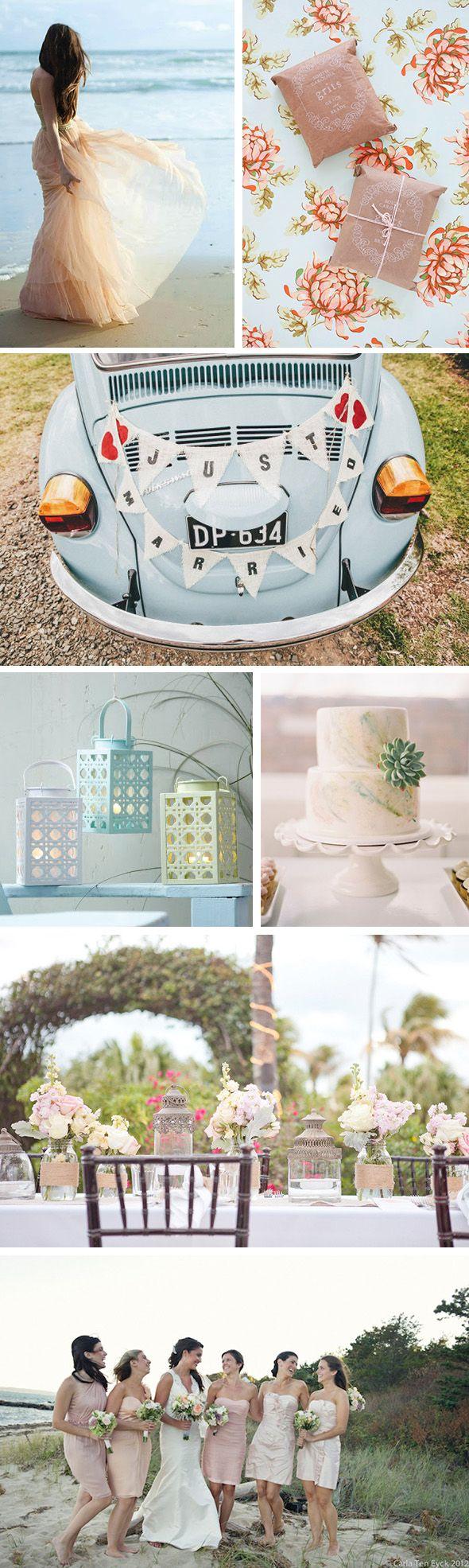 pastel beach weddings Pastel Weddings on the Beach