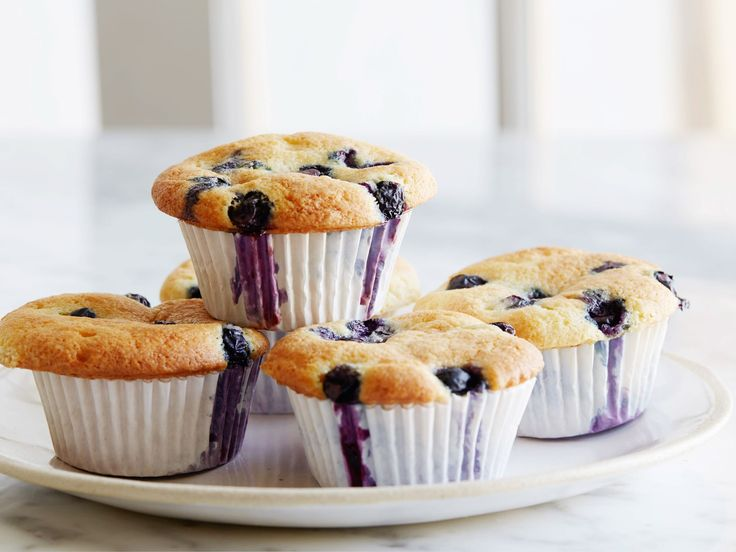 Blueberry Coffee Cake Muffins : Ina adds sour cream to her blueberry muffins to make them extra moist.