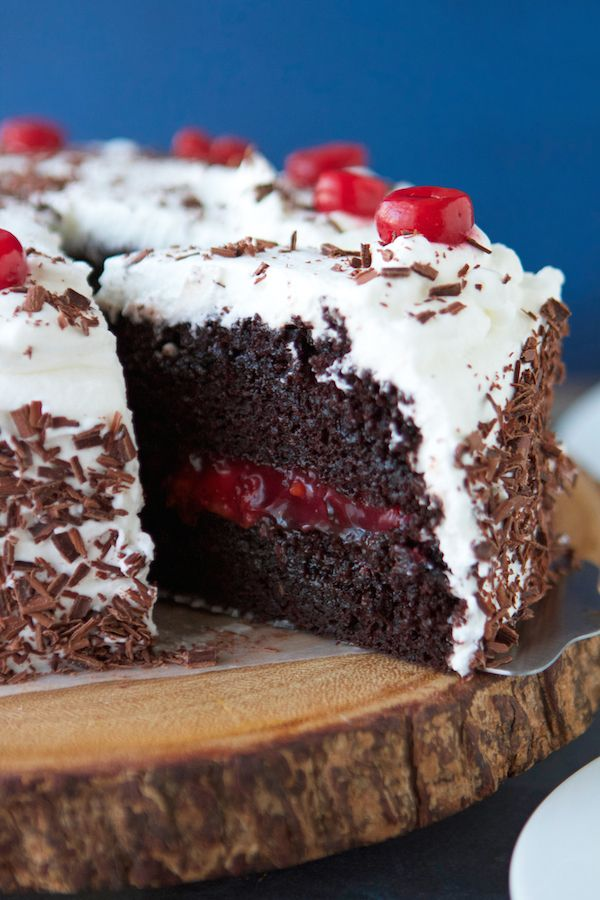 Black Forest Cake - need to figure out how to make a healthier version of this incredible looking cake!
