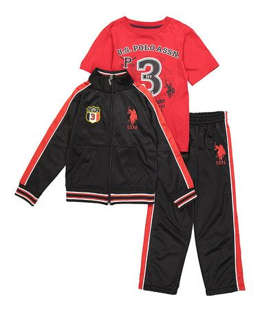 Look what I found on #zulily! Engine Red & Black Windbreaker Set - Kids #zulilyfinds