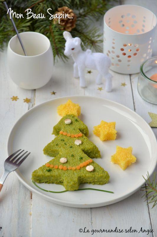 sapin polenta épinards #noel #vegan #recette #enfant http://www.la-gourmandise-selon-angie.com/archives/2016/12/11/34653186.html