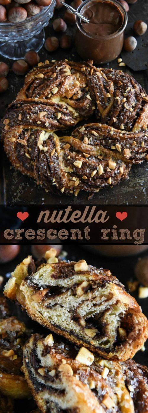 Nutella Crescent Ring | The Novice Chef