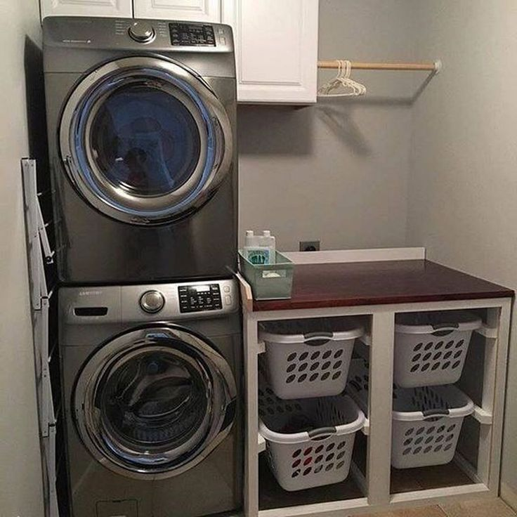 32 minimalistische kleine Waschküche Design und Dekor-Ideen