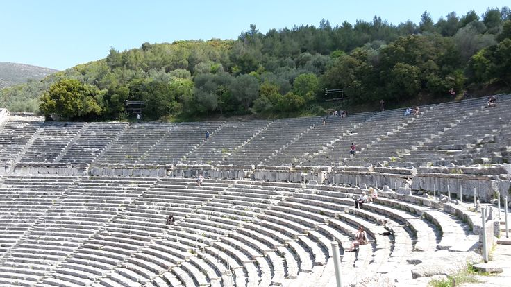 The ancient theatre of Epidaurus.