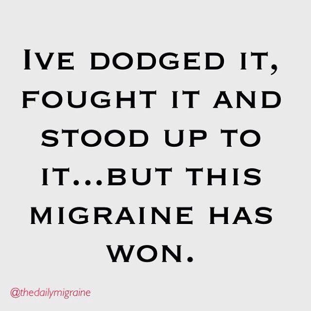 I've dodged it... Chronic Migraines