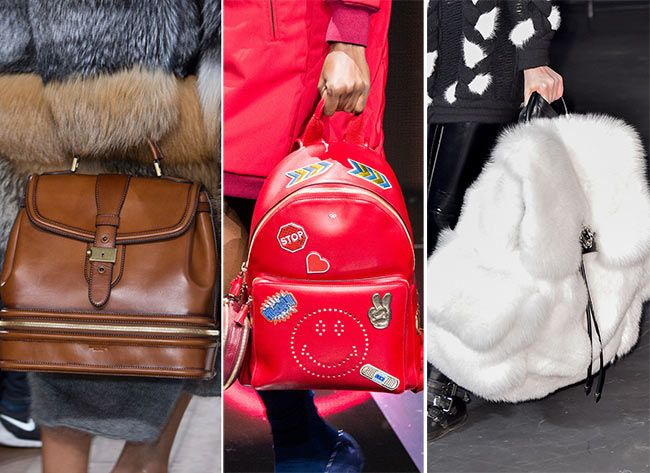 Fall/ Winter 2015-2016 Handbag Trends: Backpacks and Suitcases #bags #handbags #trends: