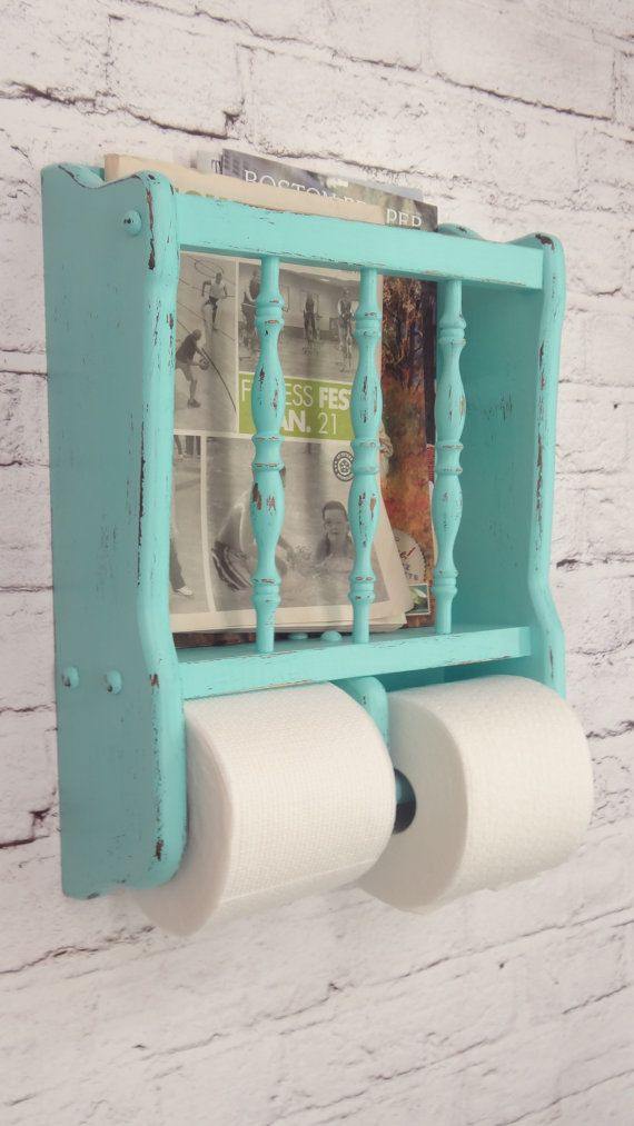 Shabby Chic Toilet Paper Holder Magazine Rack~ ♥ Shabby Chic Inspirations #shabbychic