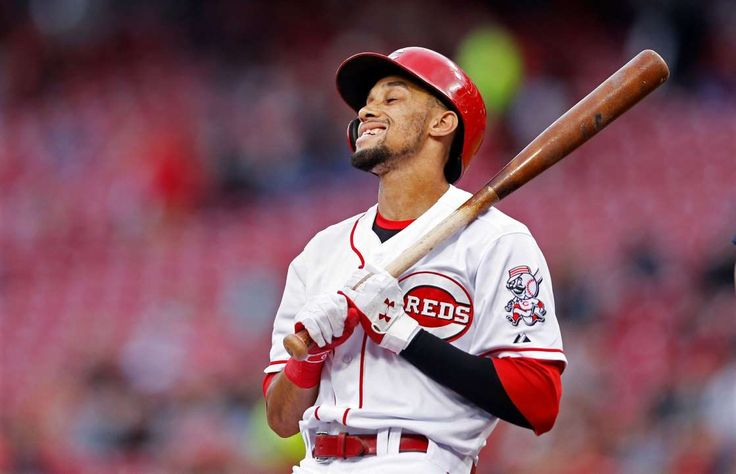 The 10 worst hitters of 2017 (so far)  -  April 28, 2017:       7. Billy Hamilton, Cincinnati Reds (OPS+: 38)  -    0 HR, 3 RBIs, .212/.261/.247  -     Billy Hamilton of the Cincinnati Reds reacts after striking out in the first inning against the Milwaukee Brewers on April 27 in Cincinnati. The Reds won 9-6.