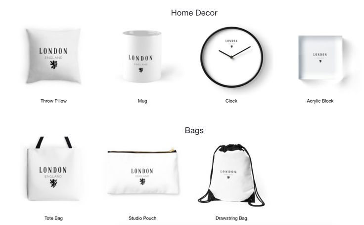 London!- Home Decor, Bags, T-shirts and more. Available on Redbubble now.