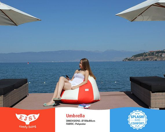 Outdoor bean bag chair Umbrella style unique patio by EJSIdsgn