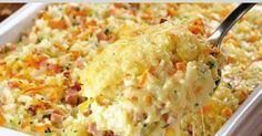 receta para Arroz al horno con queso crema. Más