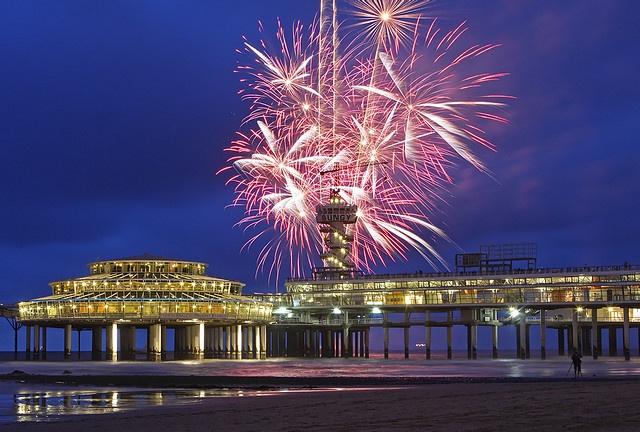 firework show at Scheveningen