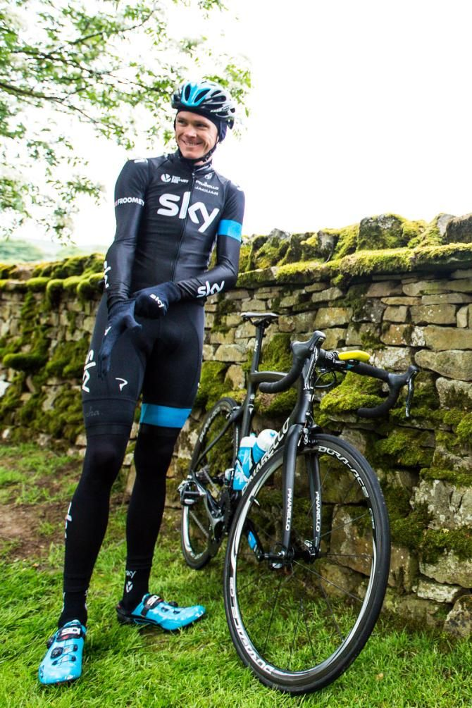 Gallery: Froome leads Team Sky reconnaissance over Tour de France stages - Chris Froome (Team Sky) before his training ride
