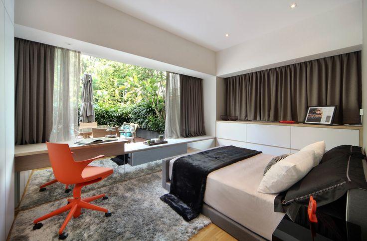 SYRB Balcon East #syrb #modern #interior #design #bedroom #spoon #chair #grey #orange #outdoor