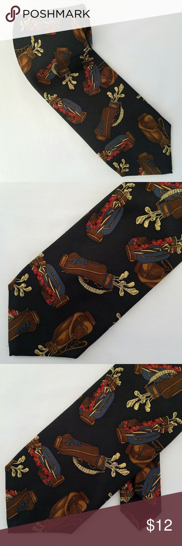 MILLS-TOUCHE Handmade Silk Golf Clubs Novelty Tie JUST IN DESCRIPTION TO COME SOON. Mills-Touche Accessories Ties