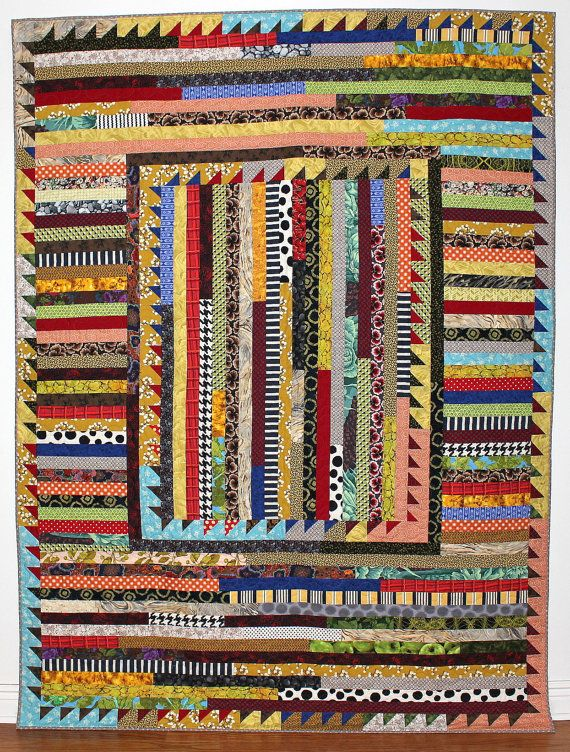 Camp Quilt 2 Twin Quilt Scrap Quilt by KarenGriskaQuilts on Etsy
