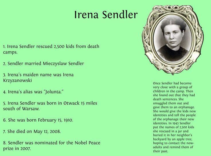 Irena Sendler …. Children's Savior! | It Is What It Is