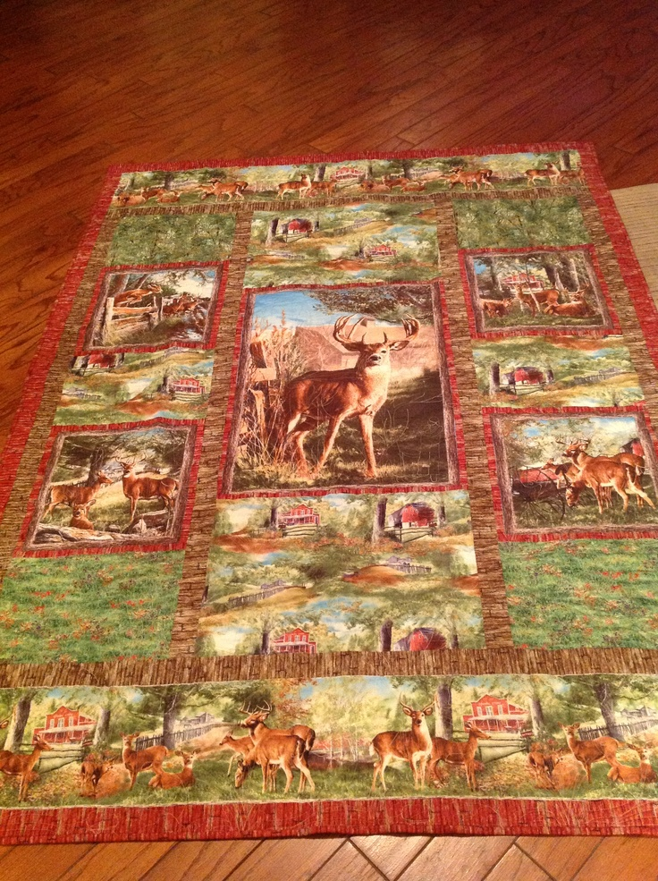 73 best Deer Quilt images on Pinterest | Wildlife quilts, Animal ... : hunting quilts - Adamdwight.com