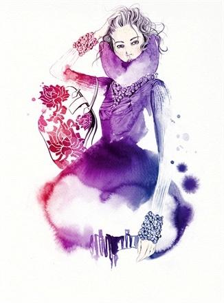 #Nina Skarra #FW: Fashion Art, Amazing Colors, Keen Fans, Watercolour Illustration, A Tattoo, Fashion Illustrations, Skarra Fashion, Tattoo Nina, Fashion Sketch