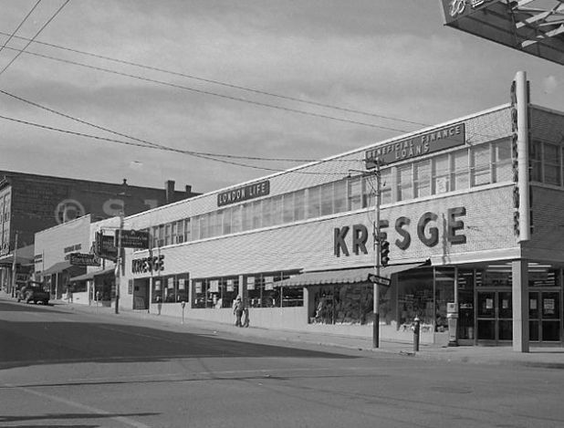 Kresge Store - 1959, corner of 10th and Rosser, Brandon, Manitoba.