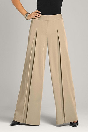 Pleated Palazzo pants...need to get me these.